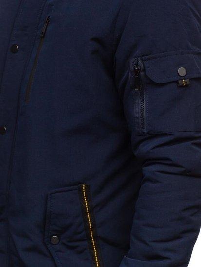 Kurtka męska zimowa parka granatowa Denley 5841