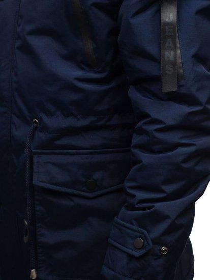 Kurtka męska zimowa parka granatowa Denley R102