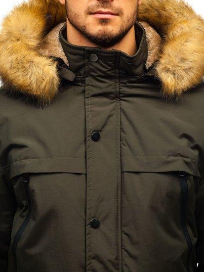 Kurtka męska zimowa parka khaki Denley R101