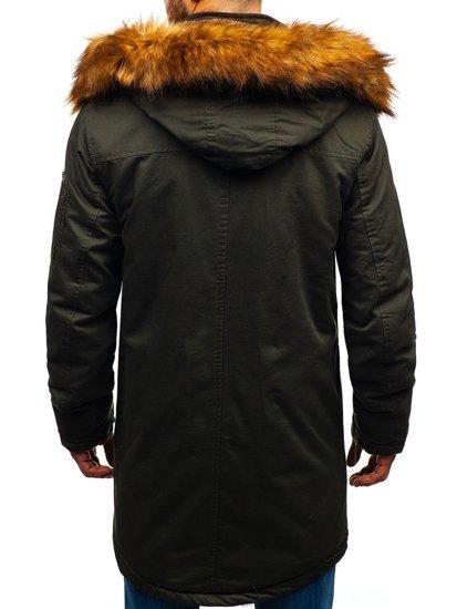 Kurtka męska zimowa parka khaki Denley R106