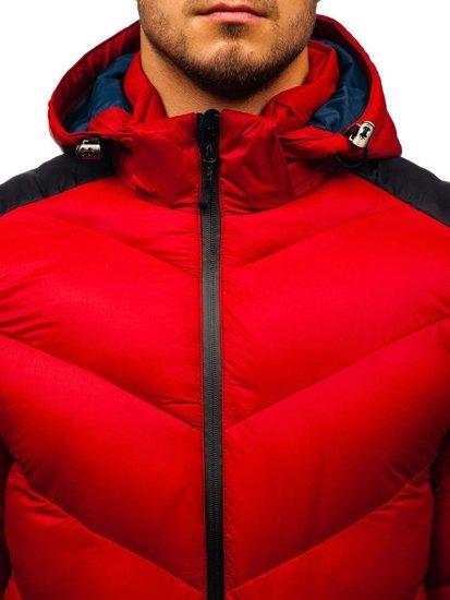 Kurtka męska zimowa sportowa czerwona Denley AB100