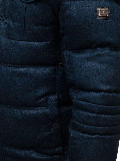 Kurtka męska zimowa sportowa granatowa Denley AB104