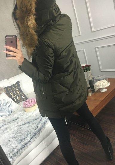 Kurtka zimowa damska khaki Denley 8071