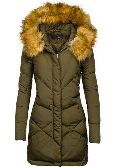 Kurtka zimowa damska khaki Denley 8074
