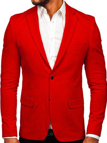 Marynarka męska elegancka czerwona Denley SR2003