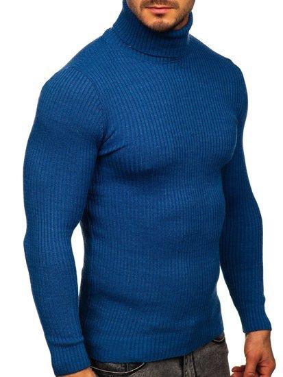 Niebieski sweter męski golf Denley 4607