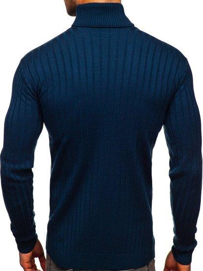 Niebieski sweter męski golf Denley 520