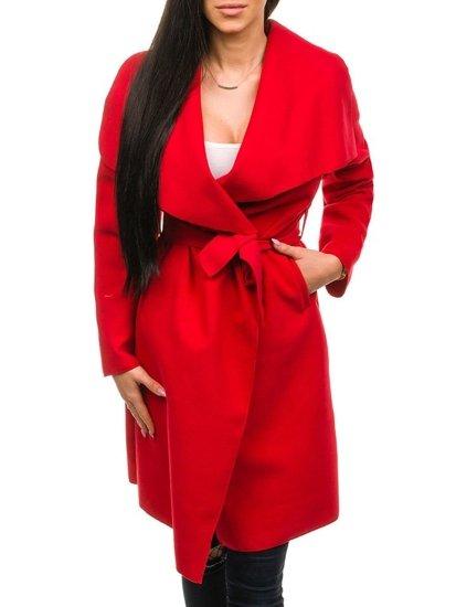Płaszcz damski czerwony Denley 1729