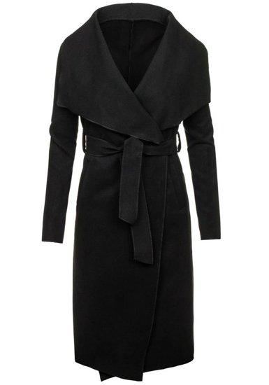 Płaszcz długi damski czarny Denley 1729