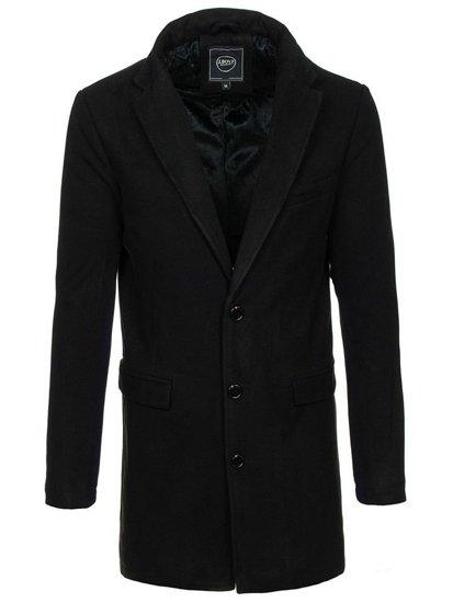 Płaszcz męski zimowy czarny Denley 1047B