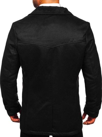 Płaszcz męski zimowy czarny Denley 3127