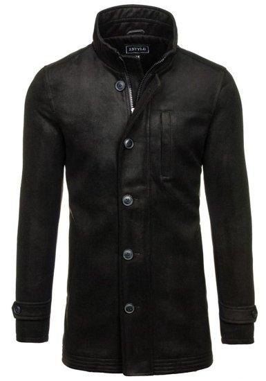 Płaszcz męski zimowy czarny Denley 3129