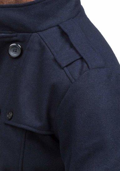 Płaszcz męski zimowy granatowy Denley EX903
