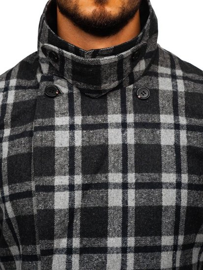 Płaszcz męski zimowy szary Denley 1115