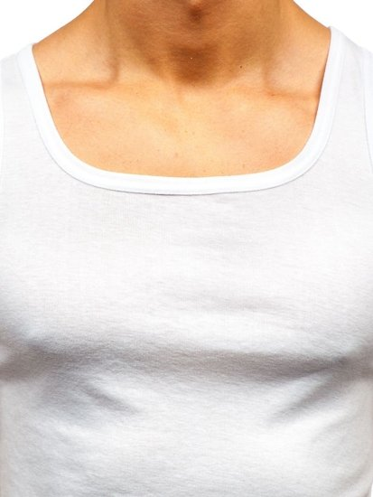 Podkoszulek męski bez nadruku biały Denley C10043