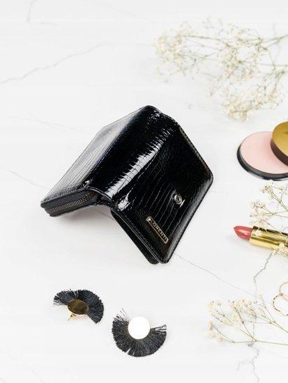 Portfel damski skórzany czarny 2088