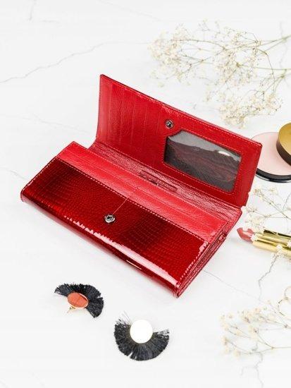 Portfel damski skórzany czerwony 2097
