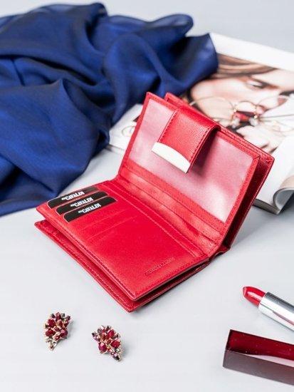 Portfel damski skórzany czerwony 2412
