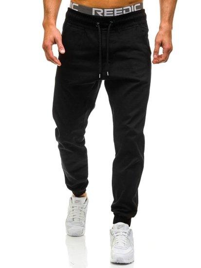 Spodnie baggy męskie czarne Denley 0399