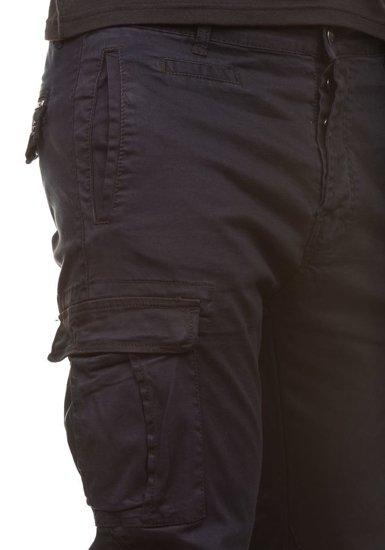 Spodnie bojówki męskie czarne Denley 8380