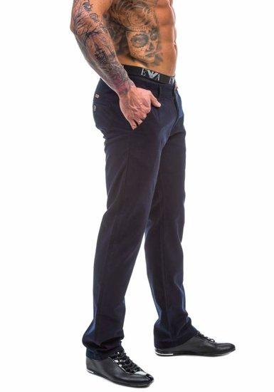 Spodnie chinosy męskie atramentowe Denley 570