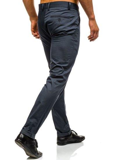 Spodnie chinosy męskie grafitowe Denley 0204