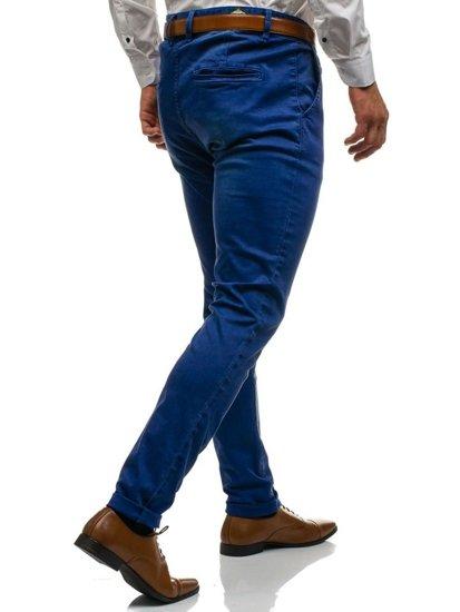Spodnie chinosy męskie granatowe Denley 7315