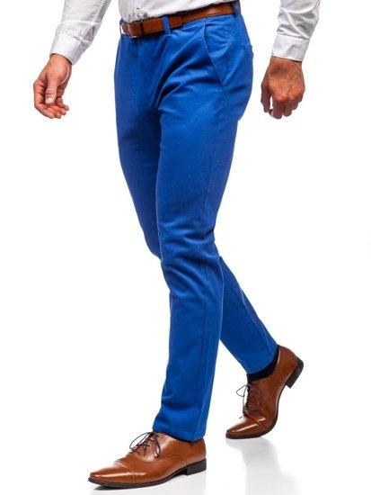 Spodnie chinosy męskie niebieskie Denley 1120