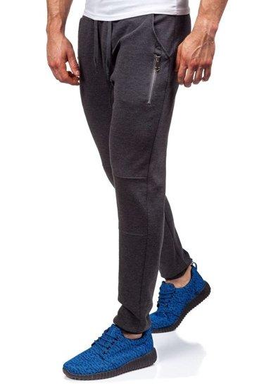 Spodnie dresowe baggy męskie antracytowe Denley 6025