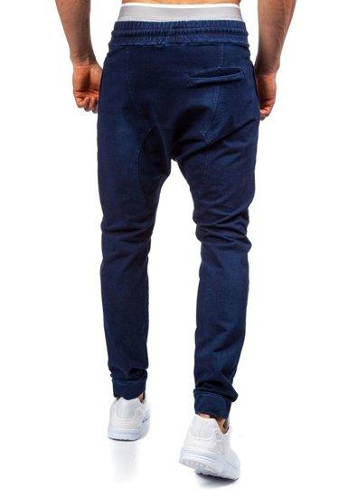 Spodnie dresowe baggy męskie atramentowe Denley 2710