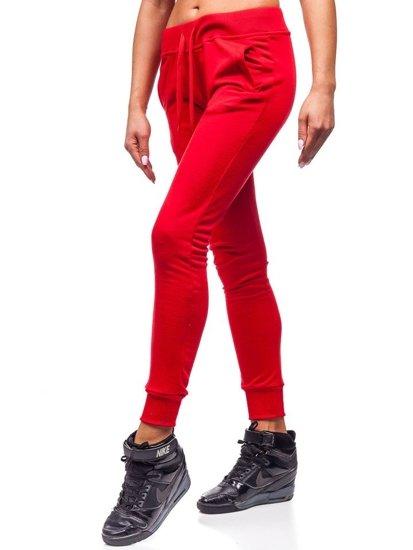 Spodnie dresowe damskie czerwone Denley WB11003