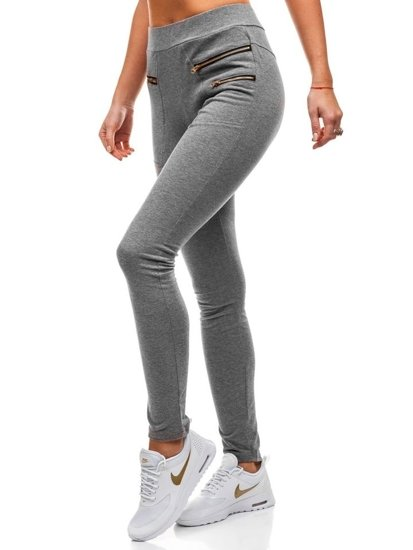 Spodnie dresowe damskie grafitowe Denley W9887