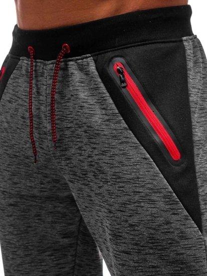 Spodnie dresowe męskie grafitowe Denley 55038