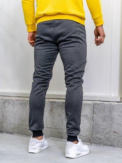 Spodnie dresowe męskie grafitowe Denley AM75
