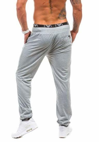Spodnie dresowe męskie szare Denley 1023