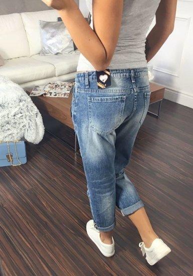 Spodnie jeansowe damskie niebieskie Denley 5113