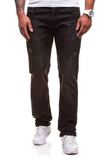 Spodnie jeansowe męskie czarne Denley 4447