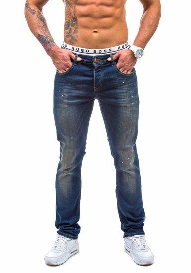 Spodnie jeansowe męskie granatowe Denley 176