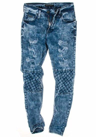 Spodnie jeansowe męskie granatowe Denley 4372 (8142)-1