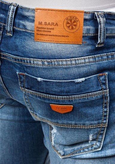 Spodnie jeansowe męskie granatowe Denley 8952
