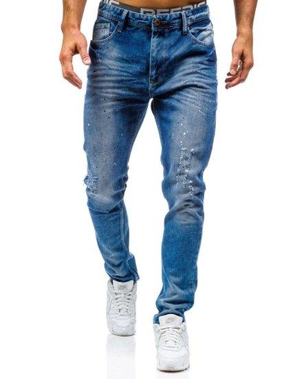Spodnie jeansowe męskie niebieskie Denley 0165-1