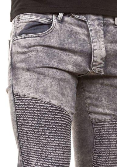 Spodnie jeansowe męskie szare Denley 4155-1