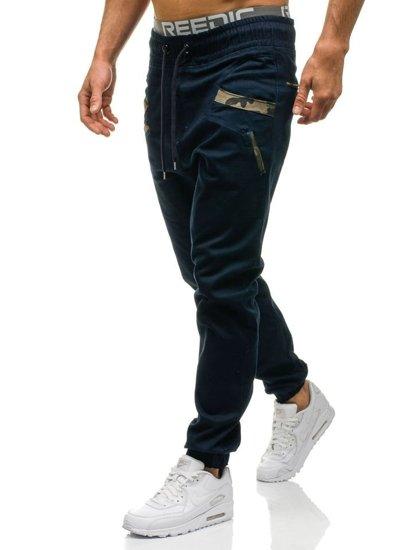 Spodnie joggery męskie granatowe Denley 0473