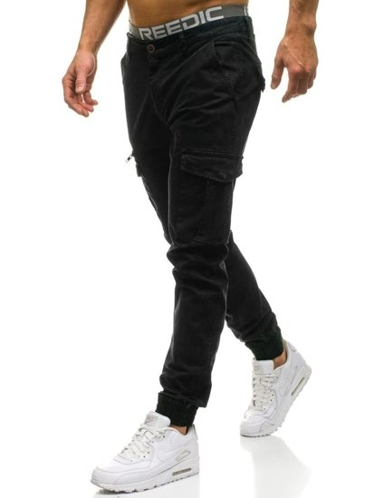 Spodnie joggery męskie moro-czarne Denley 4949