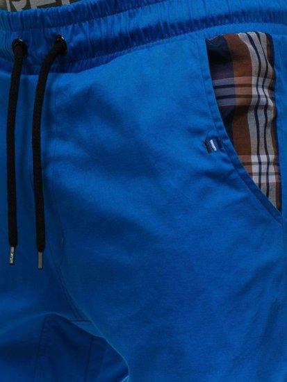 Spodnie joggery męskie niebieskie Denley 0449