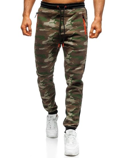 Spodnie męskie dresowe joggery moro multikolor Denley 3783B