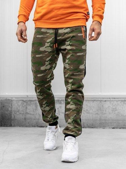 Spodnie męskie dresowe moro multikolor Denley 3783B