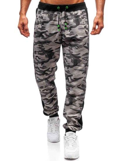 Spodnie męskie dresowe moro-szare Denley 55017