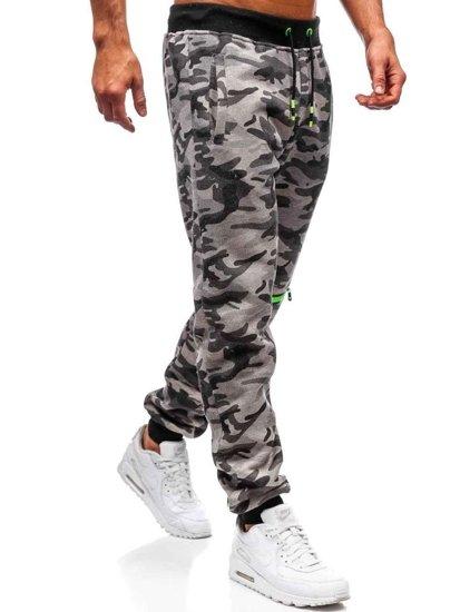 Spodnie męskie dresowe moro-szare Denley 55028