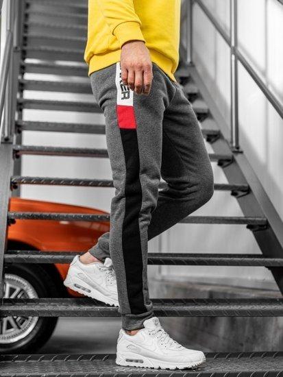 Spodnie męskie dresowe szare Denley JX8962